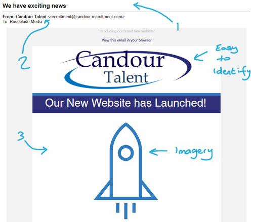 Candour Talent Email Campaign