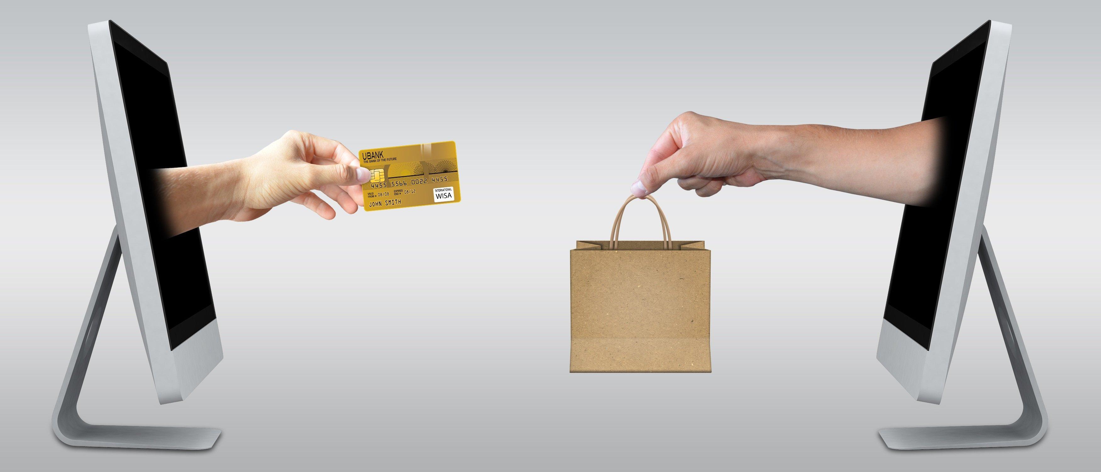 Image illustrating online purchase